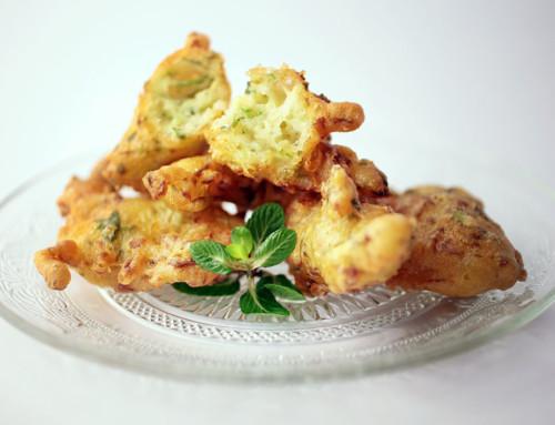 Frittelle di zucchina e menta